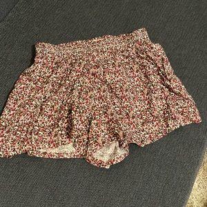 Flowy floral shorts